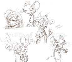 I Luv Halloween doodles2 by ZombiDJ