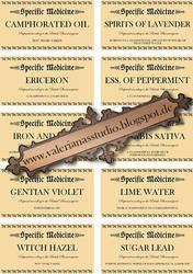 Antique Medicine Bottle Labels by ValerianaSTOCK