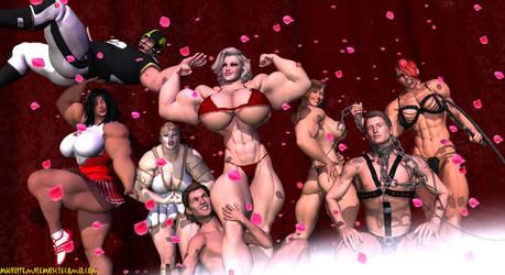 Mighty Female Muscle Comix by SteeleBlazer84