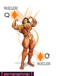 Musclexx Pinup Commission Set 2 Sample by SteeleBlazer84