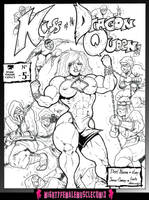 Kiss of the Dragon Queen Issue 5 sample 01 by SteeleBlazer84
