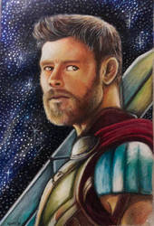 Thor with background  by gaielxy81