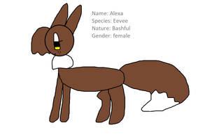 Alexa the Eevee by InkedEspeon