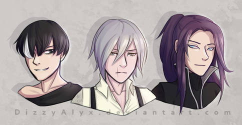 Noblesse: Tao, M-21 and Takeo by DizzyAlyx