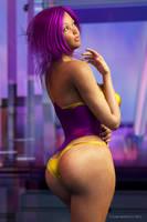 Purple-haired Kiona #2 by LarsMidnatt