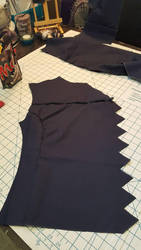 Bucky Barnes Winter Soldier Jacket WIP1 by RelicRaider
