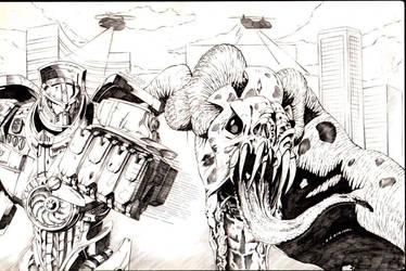 Gypsy Danger vs Cloverfield by AmirKameron