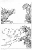 Godzilla 2014 vs Shin Godzilla mini comic PART 2 by AmirKameron