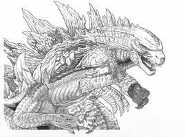 Godzilla 2014, Zilla by AmirKameron