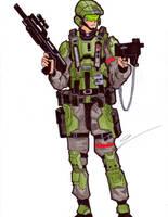 UNSC Marine by birdboy100