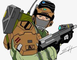 UNSC ARMY Trooper by birdboy100