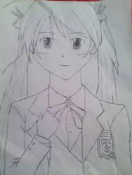Asuna Negima by huskiezlover