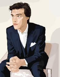 Vector Portrait (Finn Wittrock) by huskiezlover