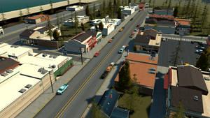 Arcadia Bay Street - Source Filmmaker by BenGrunder