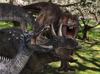 Cretaceous Selfie of Dinosaurs by NestieBot