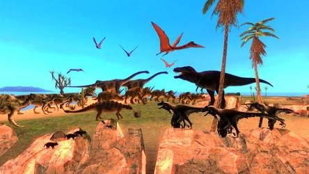 Dinovember: Day 29-30 Cretaceous San Francisco by NestieBot