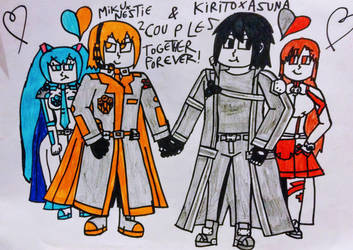 MikuxNestie and KiritoxAsuna Together Forever! by NestieBot