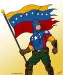 Captain Vzla holding the flag by edwinj22