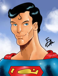 Christopher Reeve Caricature color by edwinj22
