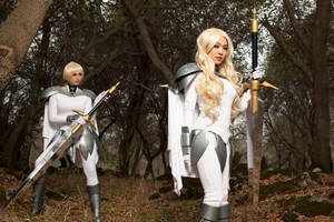 Claymore Clare and Teresa Faint Smile Cosplay by VampBeauty