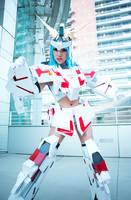 MS Unicorn Gundam Girl by VampBeauty