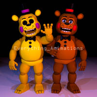 Toy Golden Freddy and Toy Freddy by EverythingAnimations