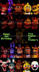 Happy 1st Birthday FNAF by EverythingAnimations