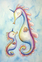 Sea Unicorns by seystudios