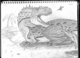 Grumpy Tyrannosaurus by Ichigo2468