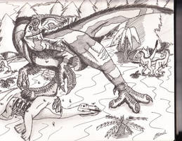 Giganotosaurs Carolinii by Ichigo2468