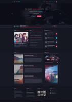 Music Web design - for sale by iEimiz