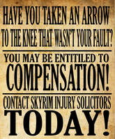 Skyrim Injury Poster by Party9999999