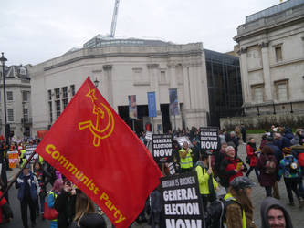 The Red Flag Over Protesters by Party9999999
