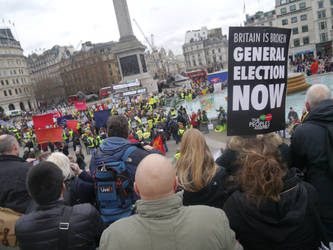 The Crowd in Trafalgar Square by Party9999999