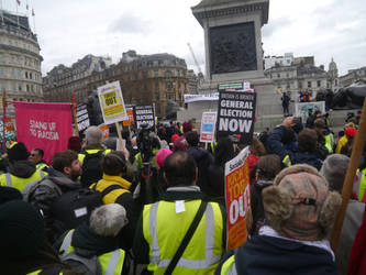 The Crowd At Nelson's Column by Party9999999