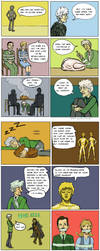 Pertwee's meat madness by Draculasaurus