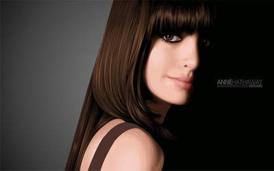Anne Hathaway by skeuomorph18