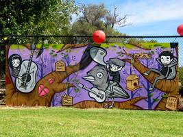 Womubu festival mural. by PerthCityTroll