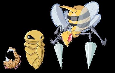 G1 Pokedex - Bees by BoscoloAndrea