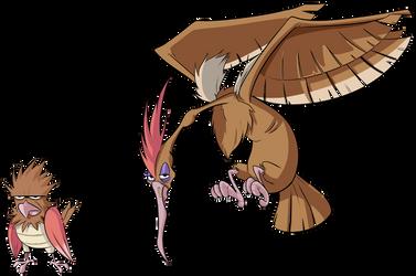 G1 Pokedex - Other Birds by BoscoloAndrea