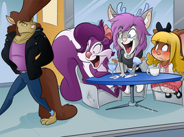 Commission - Girls Day Out by BoscoloAndrea