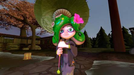 Flora Green Octoling new cimono :3 (SFM) by SjayPL