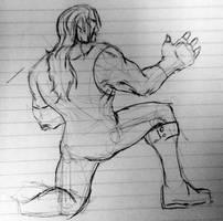 Undertaker Kneeling WIP by itamar050