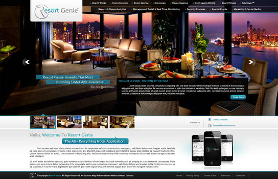 Resort Genie Front Page by Techmaster05