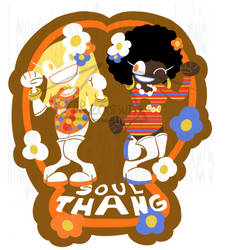 SOUL THANG STICKER -AVAILABLE NOW- by DrZootsuit