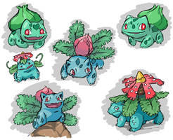 The Bulbasaur Family by Seyanni