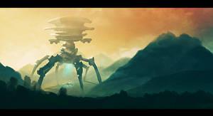 Giant Robot Invasion by Seyanni