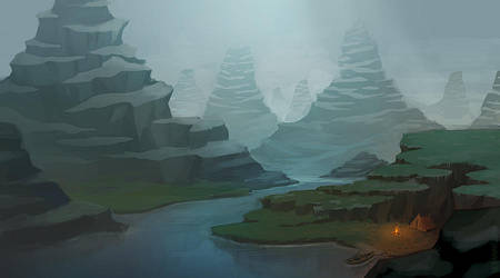 Mountains Speedpainting by Seyanni