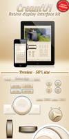 CreamUI - mobile interface kit by stefusilviu