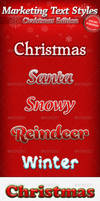 Marketing text Styles - Christmas Edition by stefusilviu